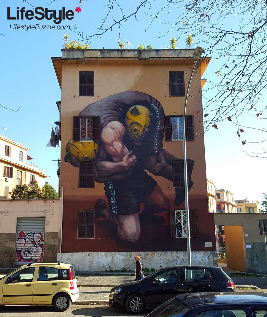Street Art Rome - Tor Marancia - wall 1