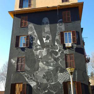 Tor Marancia street art - Rome facade 5