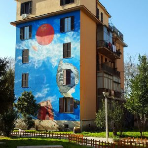 Tor Marancia Street Art in Rome - social project - wall 6