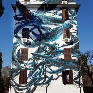 Tor Marancia Street Art Project in Rome - wall 11