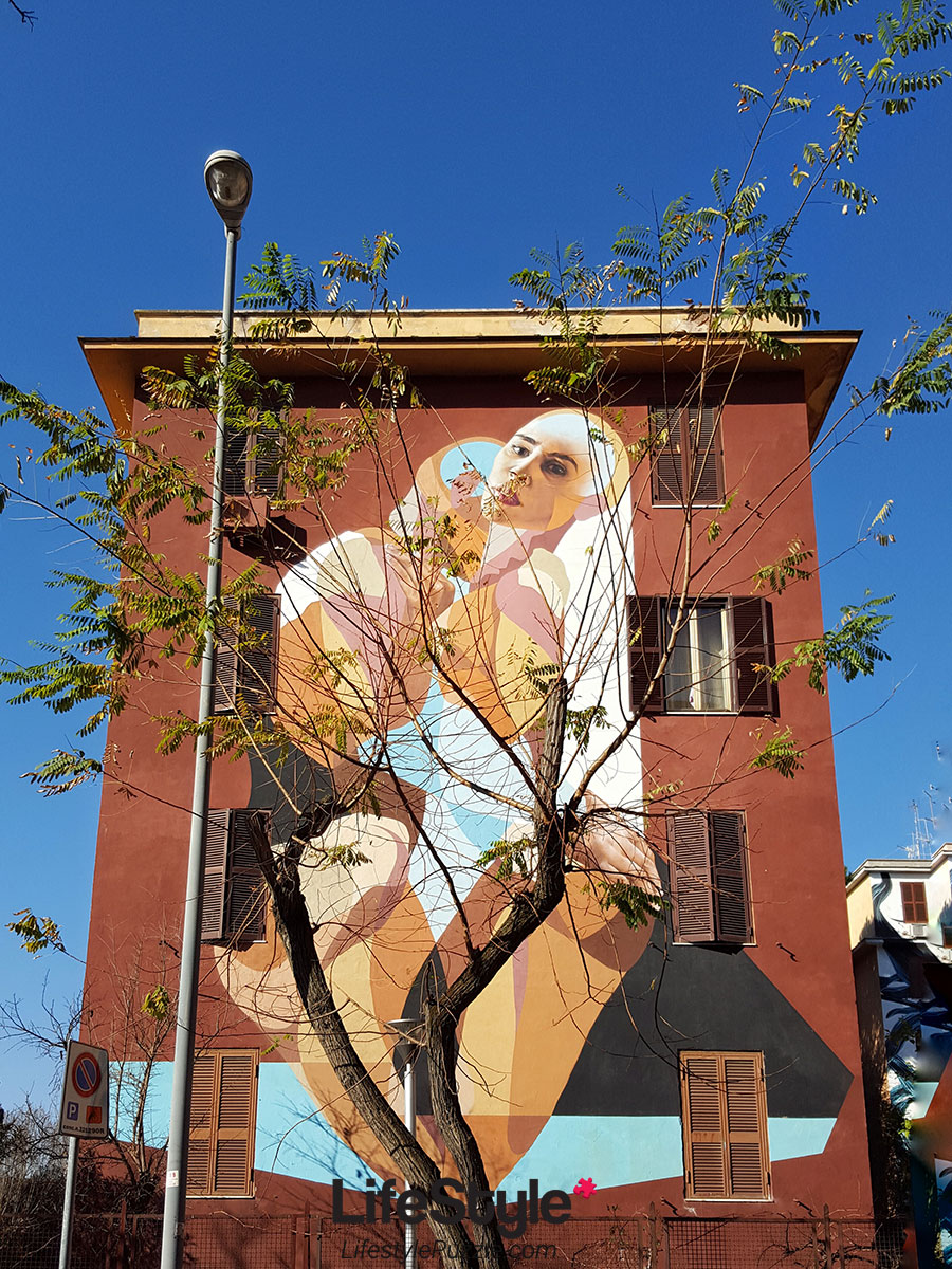 Tor Marancia street art Rome - wall 13