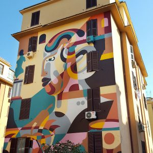 Tor Marancia street art in Rome - wall 10