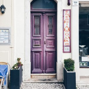 Cascais, Portugal - purple door