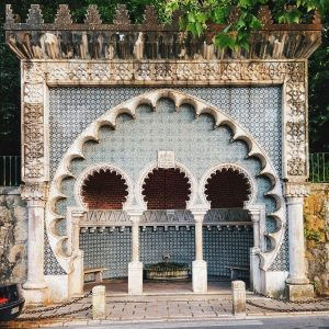 Moorish-Fountain-in-Sintra,-Portugal