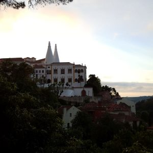 National-Palace-of-Sintra-at-sunset