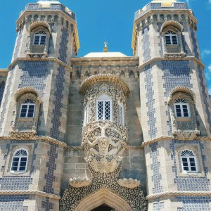 Pena-Palace-Sintra---looking-up-facade