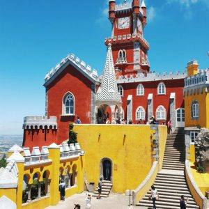 Pena-Palace-courtyard---Sintra,-Portugal