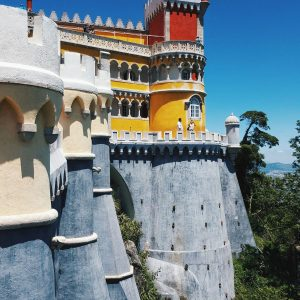 Pena-Palace-in-Sintra,-Portugal