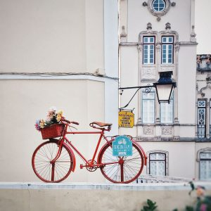 parked-bike-and-the-Municipal-Building-of-Sintra