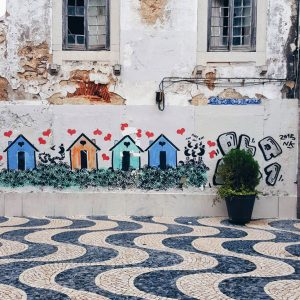 windows of Cascais, and street art Portugal