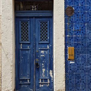 blue-azulejos-door-in-Lisbon