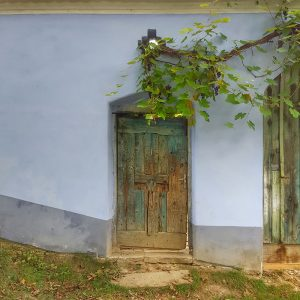 Autumn in Viscri, grapes and doors