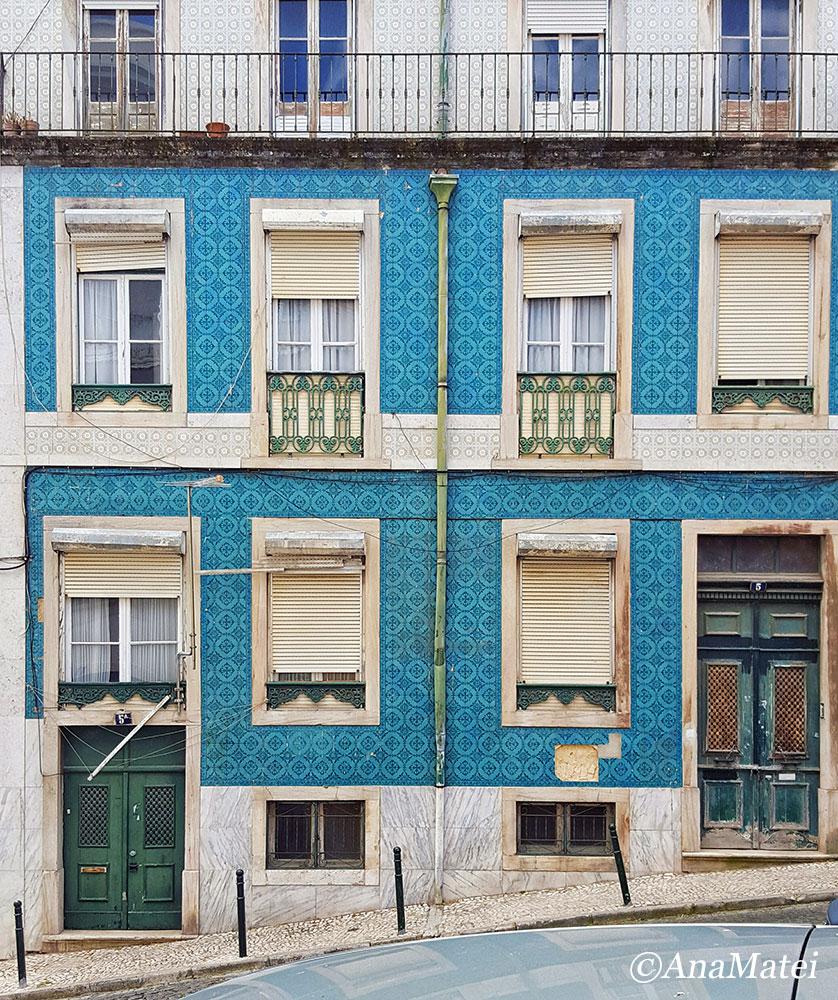 Lisbon Facade with Azulejos