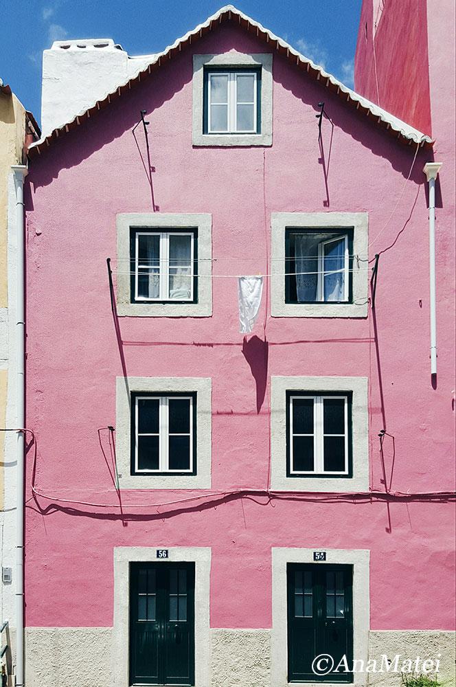 Lisbon Facade - Minimal Pink