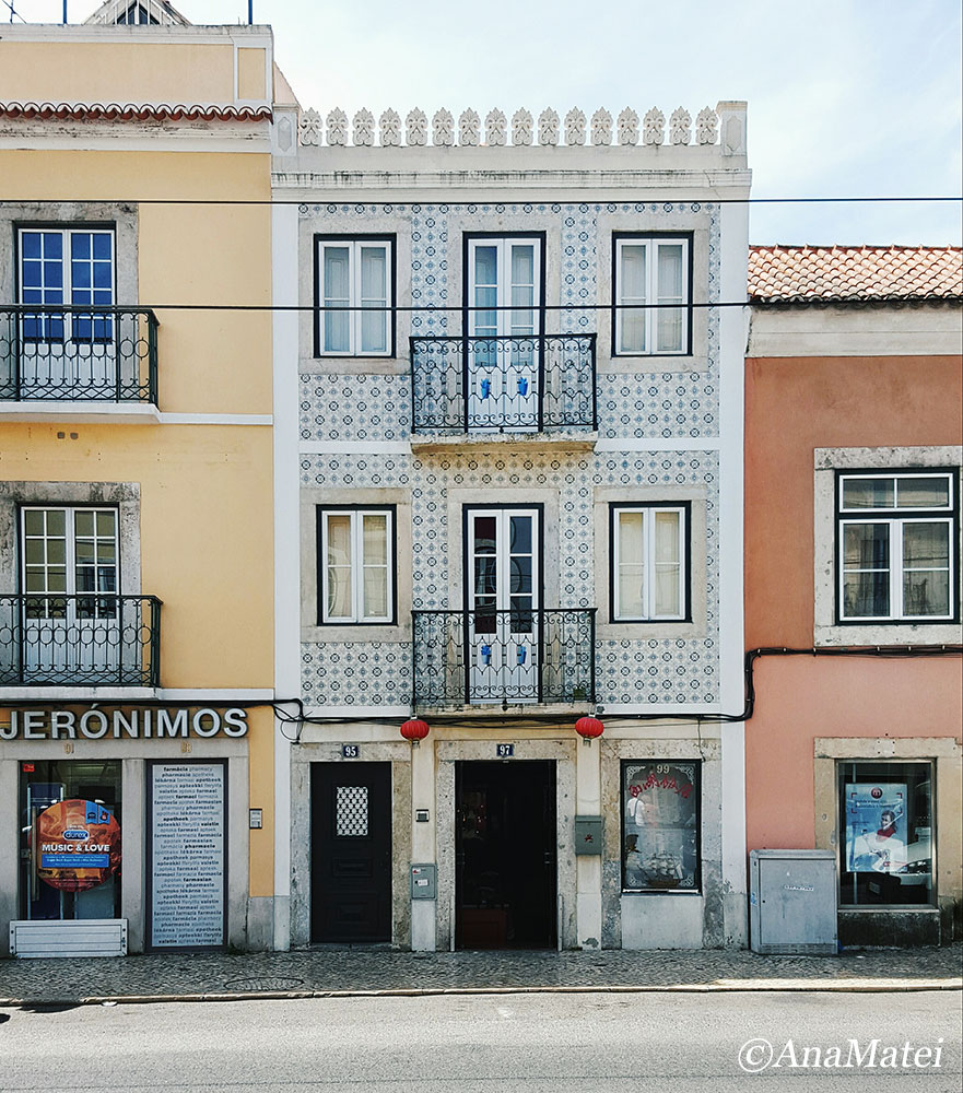 Lisbon Facades with Azulejos - Jeronimos
