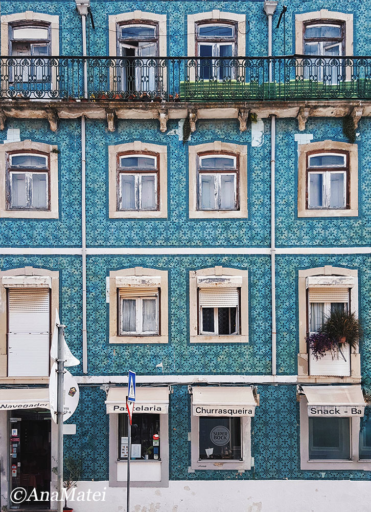 Lisbon Straight Facade with Azulejos