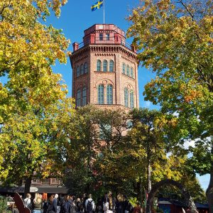 skansen-red-tower-in-the-autumn
