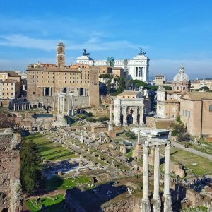 Forum-Traiani-and-Rome-seen-from-above