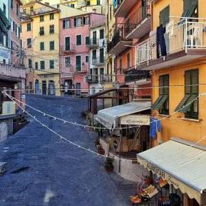 Riomaggiore---Via-Colombo-from-above