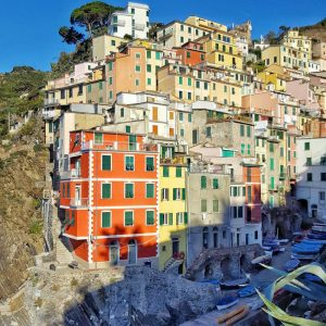 Riomaggiore-colorful-houses-on-the-shore---Cinque-Terre-by-Ana-Matei