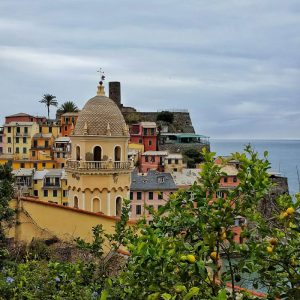 Vernazza---church-tower-from-above