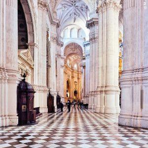 Granada-Cathedral---white-columns