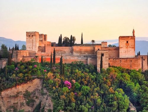 Postcard-from-Granada,-Andalucia