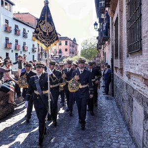 marching-band-at-Semana-Santa-in-Granada