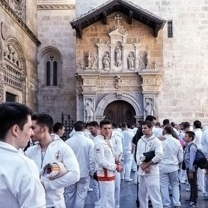 preparations-for-the-holy-processions-outside-Granada-Cathedral