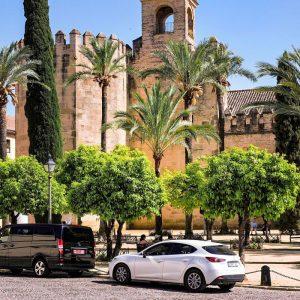 Alcazar-de-los-Reyes-Cristianos-in-Cordoba,-Spain