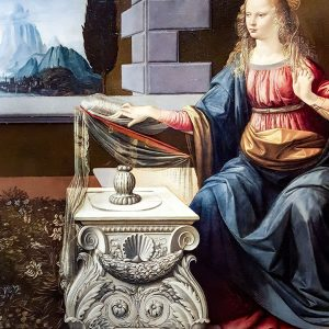 Annunciation-by-Leonardo-da-Vinci-and-Andrea-del-Verrocchio