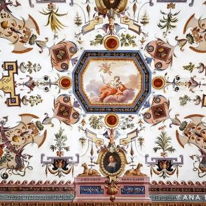 Ceiling-Fresco-at-Uffizi-Gallery,-Florence