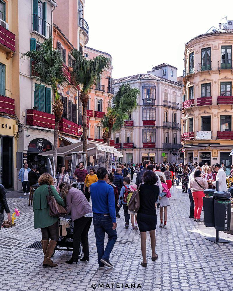 Colorful Architecture in Malaga, Andalusia