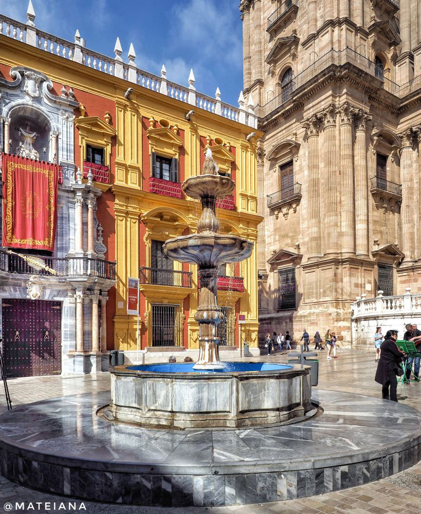 Malaga Cathedral Corner and the Episcopal Palace