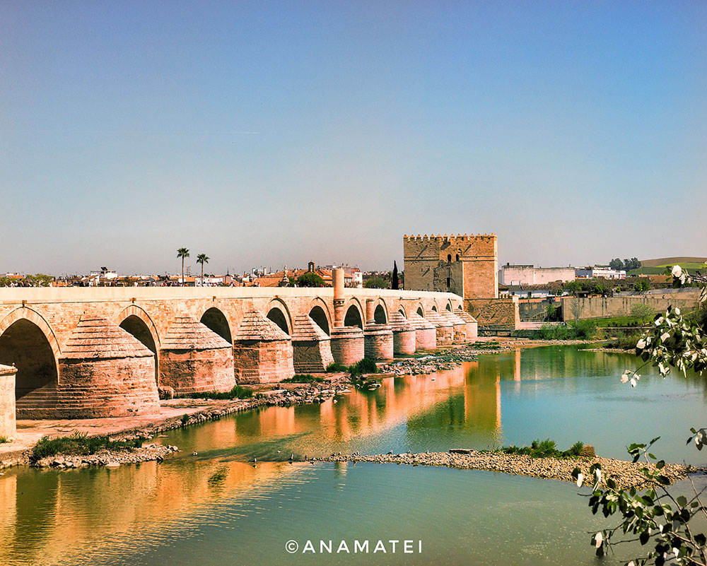 Roman-Bridge,-Cordoba,-Spain