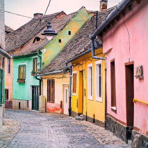 Sibiu-Lower-Town---Colorful-Houses