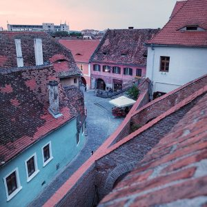 Sibiu-Passage-of-Stairs-and-Lower-Town