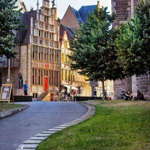 Beautiful-Architecture-in-Gent,-Belgium