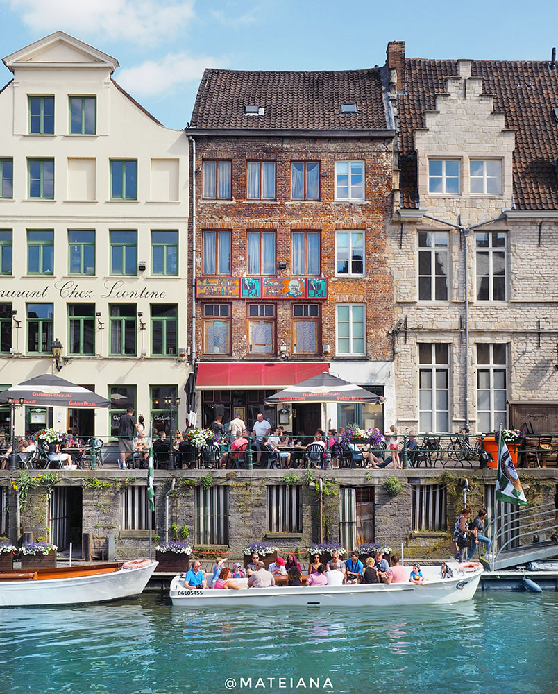 Ghent,-Belgium---Facades-near-the-waterfront