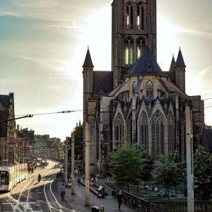 Saint Nicholas' Church, Ghent - afterglow