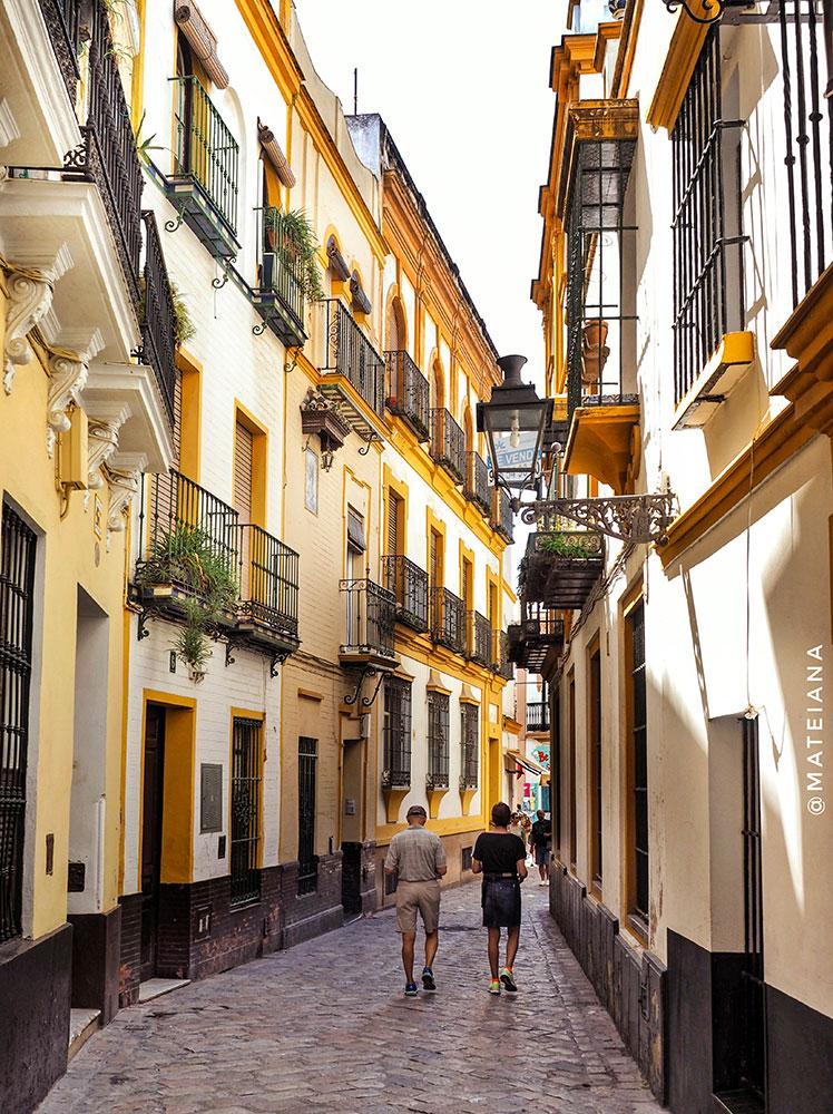 Bario-Santa-Cruz-in-Seville,-Spain