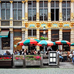 Facade in Grand-Place Brussels