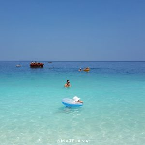 Marble-Beach-in-Thassos,-Greece