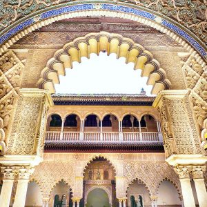Real-Alcazar-Seville,-Spain---Architecture