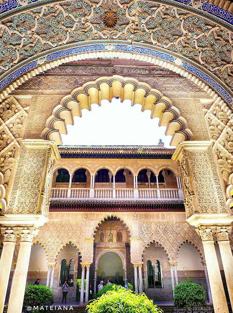 Real-Alcazar-Seville,-Spain---Architecture