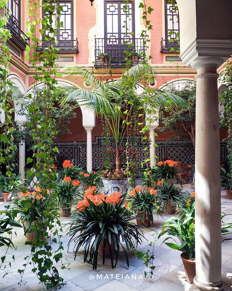 Secret-Patio-in-Seville,-Andalucia,-Spain
