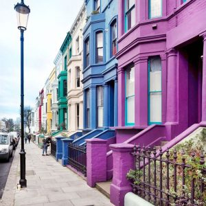Lancaster-Road---the-most-colorful-houses-in-London