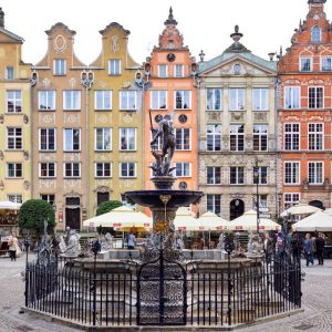 Long Lane and Fountain of Neptune in Gdansk