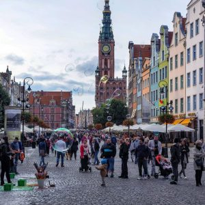 Long Lane and Main Town Hall in Gdansk