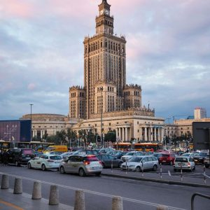 Palace-of-Culture-and-Science-Warsaw,-Poland